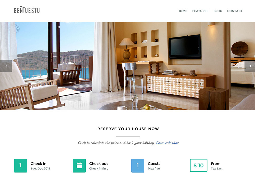 Responsive Real Estate Theme Bentuestua is a clean and captivating WordPress real estate theme.