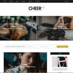 WordPress Blog Template CheerUp – Elegant Blog with Extreme Flexibility