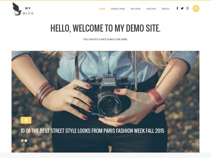 Wordpress Theme Blog - MyBlog is a responsive design for both blogs and magazines.