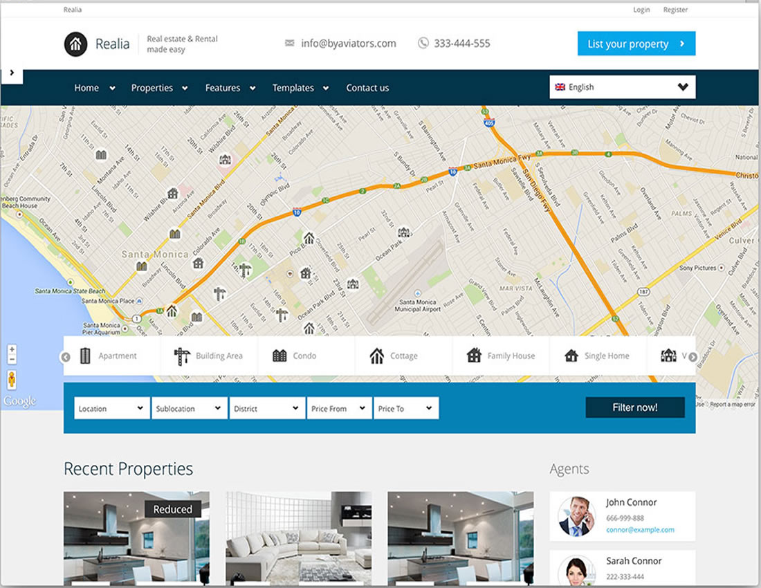 WP Real Estate: Realia - Responsive Theme
