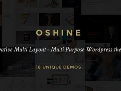 Oshine – Creative Multi-Purpose WordPress Theme